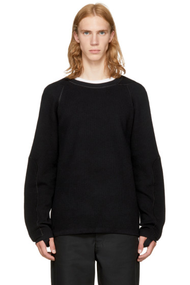 Helmut Lang - Black Combo Crewneck Sweater