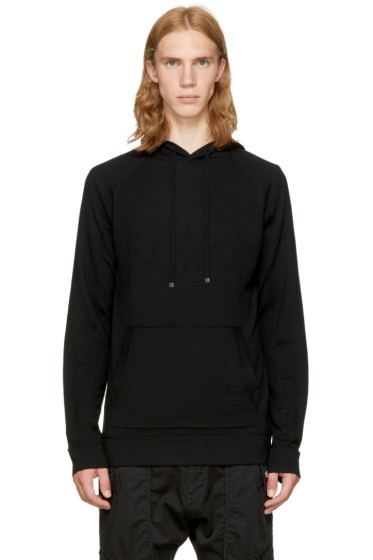 Helmut Lang - Black Exposed Seam Hoodie