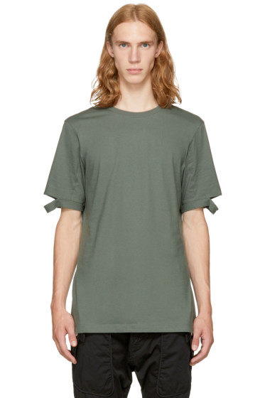 Helmut Lang - Green Slash Sleeve T-Shirt