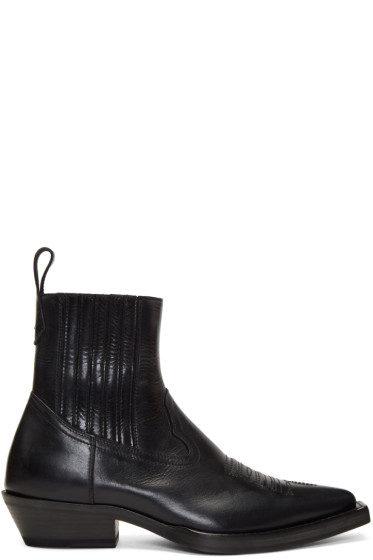 Maison Margiela - Black Santiag Boots
