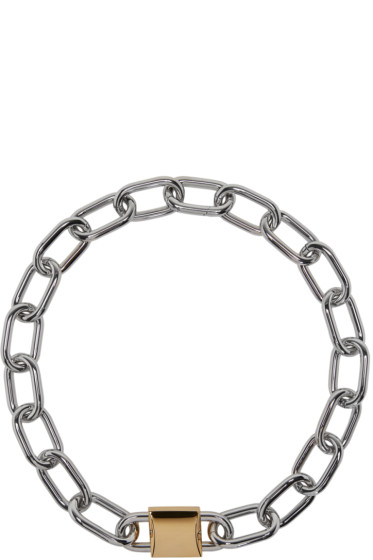 Alexander Wang - Silver & Gold Double Lock Necklace