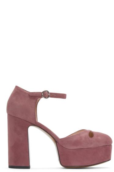 Marc Jacobs - Pink Suede Lucille Platform Heels