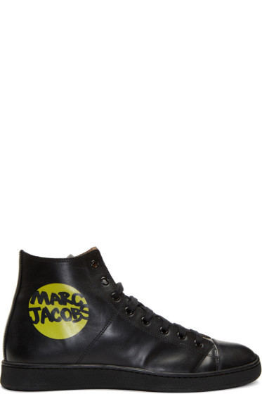 Marc Jacobs - Black Logo High-Top Sneakers