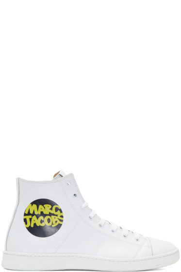 Marc Jacobs - White Logo High-Top Sneakers