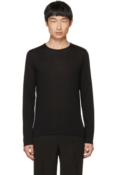 Jil Sander - Black Wool Crewneck Sweater