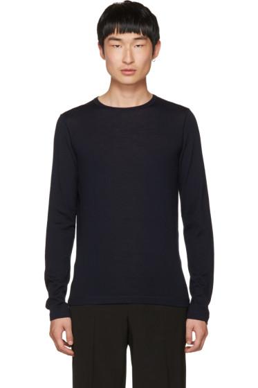 Jil Sander - Navy Wool Crewneck Sweater