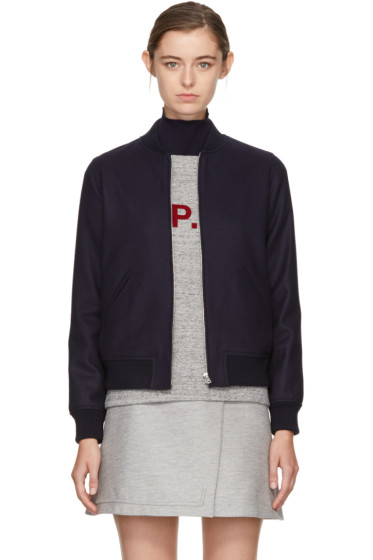 A.P.C. - Navy Norma Bomber Jacket