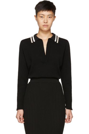 Lanvin - Black Long Sleeve Wool Polo