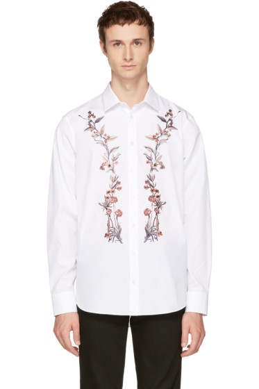 Alexander McQueen - White Floral Embroidered Shirt