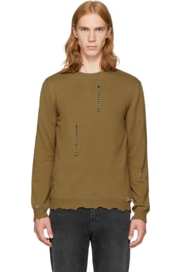 Alexander McQueen - Tan Punk Crewneck Sweater