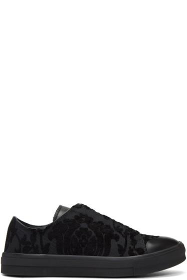 Alexander McQueen - Black Jacquard Camo Sneakers