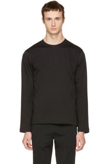 Comme des Garçons Shirt - Black Long Sleeve Basic T-Shirt