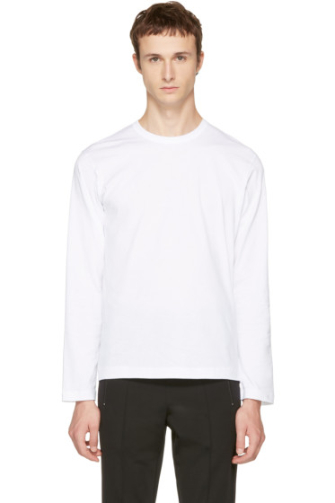 Comme des Garçons Shirt - White Long Sleeve Basic T-Shirt