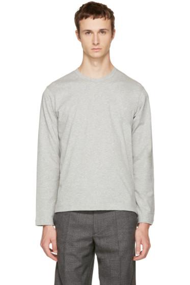 Comme des Garçons Shirt - Grey Long Sleeve Basic T-Shirt