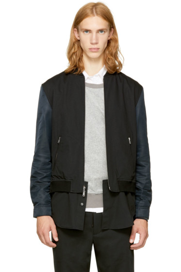 3.1 Phillip Lim - Black Classic Shirt Bomber Jacket