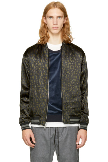 3.1 Phillip Lim - Reversible Black Leopard Souvenir Jacket