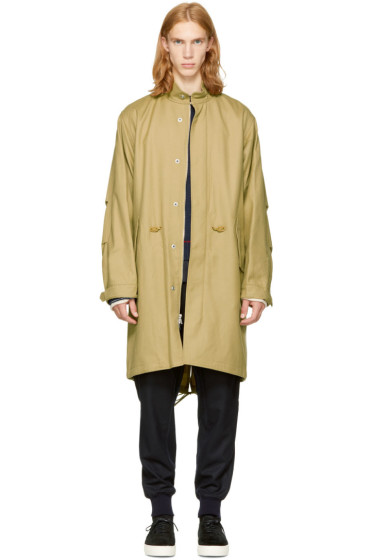 3.1 Phillip Lim - Tan Wool Fish-Tail Parka