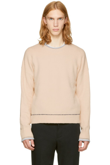 3.1 Phillip Lim - Beige Plaited Boxy Sweater