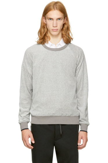 3.1 Phillip Lim - Grey Velour Sweatshirt
