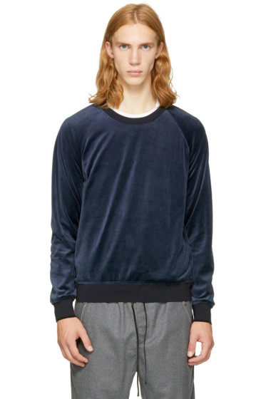 3.1 Phillip Lim - Navy Velour Sweatshirt