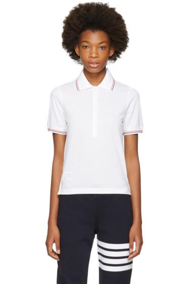 Thom Browne - White Short Sleeve Polo