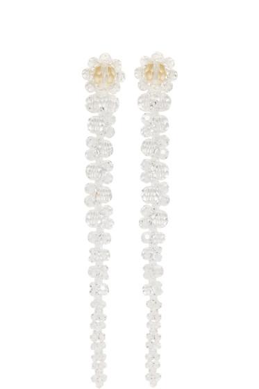 Simone Rocha - Transparent Perspex Drips Earrings
