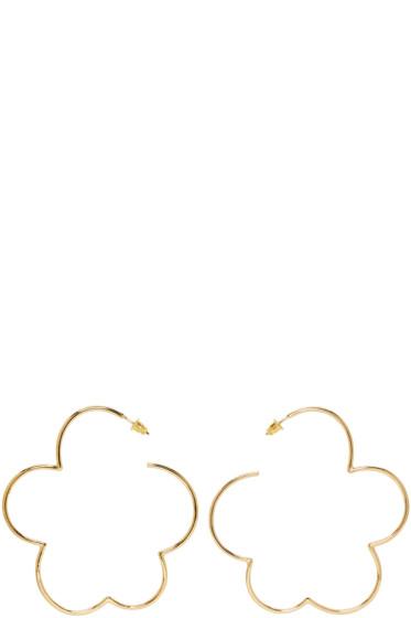 Simone Rocha - Gold Cloud Earrings