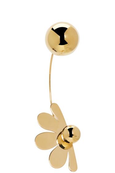Simone Rocha - Gold Double Ball Flower Earring