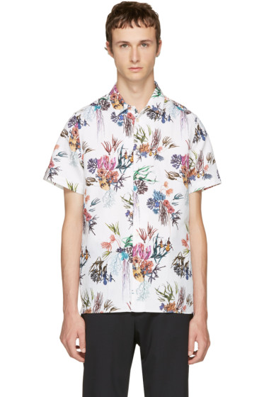 PS by Paul Smith - White Floral Shirt