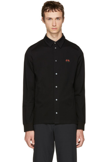 PS by Paul Smith - Black Flower Badge Polo Shirt