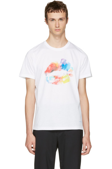 PS by Paul Smith - White Lips T-Shirt