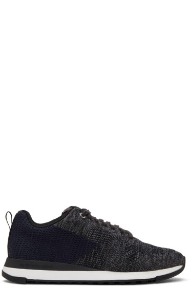 PS by Paul Smith - Black & Blue Rapid Sneakers