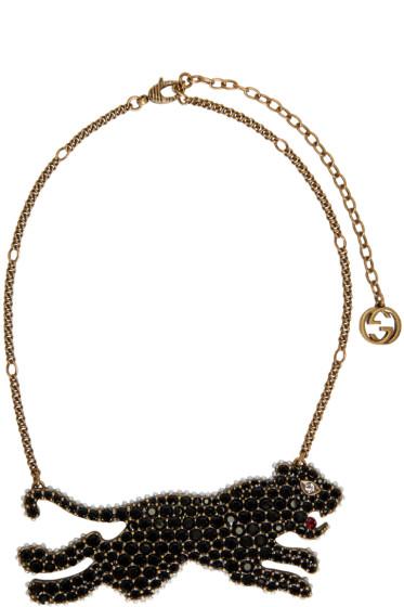 Gucci - Gold & Black Tiger Necklace