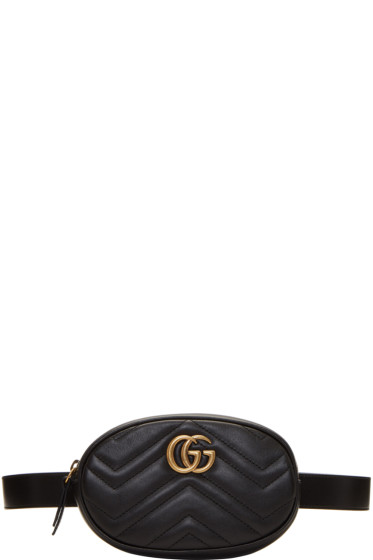f02bbe9cf Gucci Black GG Marmont 2.0 Belt Pouch from SSENSE - Styhunt