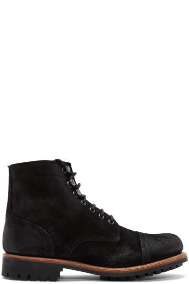 Grenson - Black Suede Radley Boots
