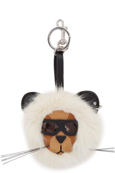 Stella McCartney - Off-White 'Fur Free Fur' Lion Keychain