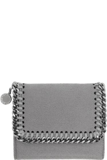 Stella McCartney - Grey Small Falabella Flap Wallet