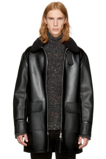 Stella McCartney - Black Faux-Leather Coat