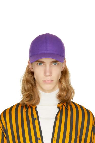 AMI Alexandre Mattiussi - Purple Wool Cap