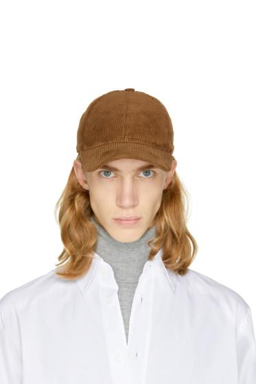 AMI Alexandre Mattiussi - Brown Corduroy Cap