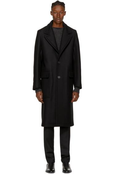 AMI Alexandre Mattiussi - Black Long Loden Coat
