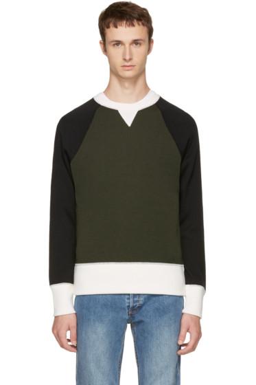 AMI Alexandre Mattiussi - Khaki Raglan Crewneck Sweater
