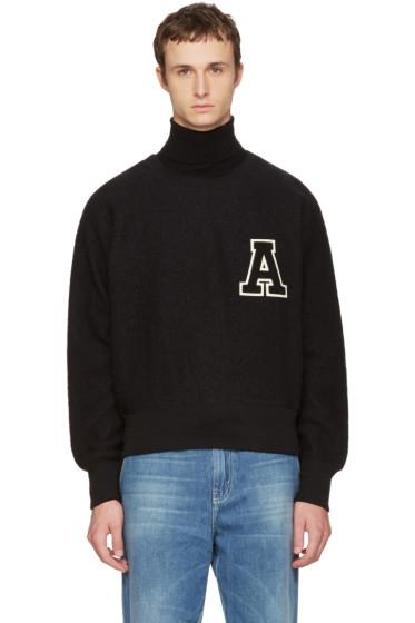 AMI Alexandre Mattiussi - Black Logo Crewneck Sweatshirt