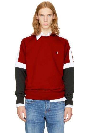 AMI Alexandre Mattiussi - Tricolor Logo Sweatshirt