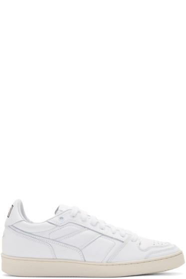 AMI Alexandre Mattiussi - White Leather Sneakers