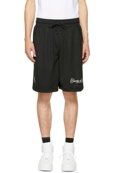 Marcelo Burlon County of Milan - Black Yatel Shorts