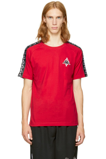 Marcelo Burlon County of Milan - Red Kappa Edition Long Sleeve T-Shirt