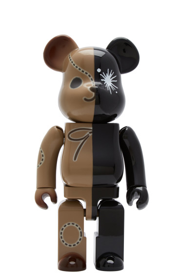 Miharayasuhiro - Black BE@RBRICK Edition Logo Bear Set