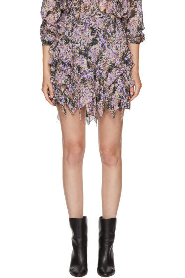 Isabel Marant Etoile - Purple Jocky Miniskirt