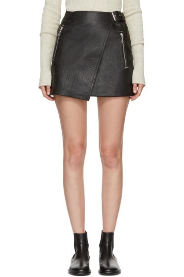 Isabel Marant Etoile - Black Leather Kakili Miniskirt